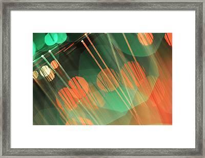 Fiber Optic Bokeh Light Framed Print