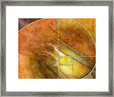 Fibonacci Fiddle Framed Print