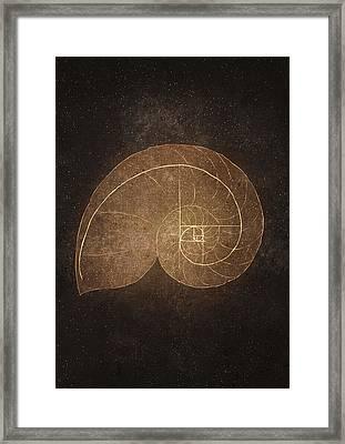 Fibonacci Framed Print by Joanna Kleczar