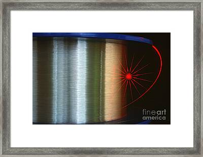 Fibre Optic Coil Framed Print