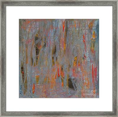 Framed Print featuring the painting Fibres Of My Being by Mini Arora