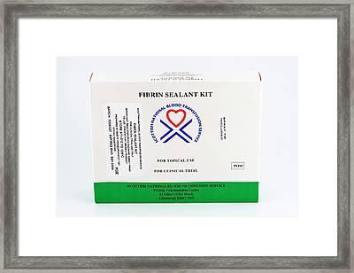 Fibrin Sealant Kit Framed Print by Antonia Reeve/science Photo Library