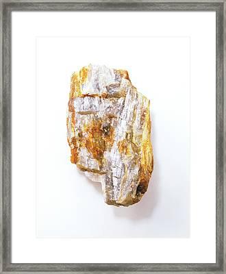 Fibrous Sillimanite Framed Print