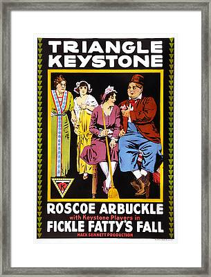 Fickle Fattys Fall, Us Poster Framed Print by Everett
