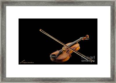 Fiddle And Bow Framed Print by Torbjorn Swenelius