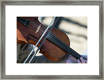 Fiddle Being Played (large Format Sizes Framed Print