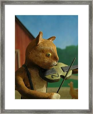 Fiddle Cat 2 Framed Print