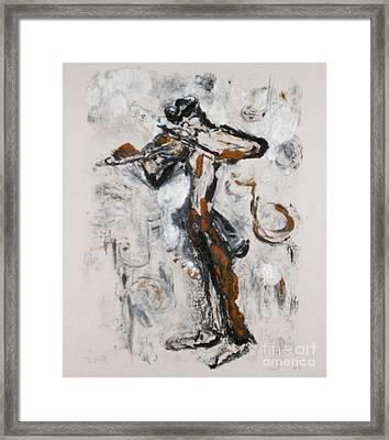 Fiddle Dee Dee Framed Print by Helena Bebirian