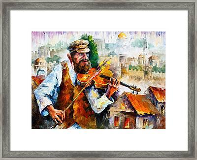 Fiddler  In Jerusalem 2 New Framed Print