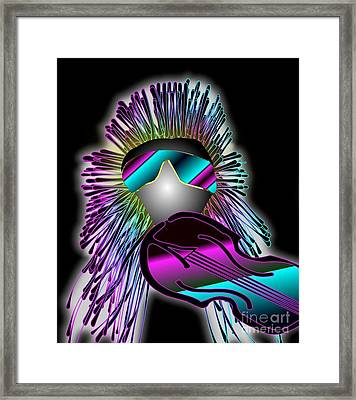 Fiddler In The Band Electric Framed Print