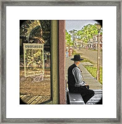 Fiddler On The Street Framed Print