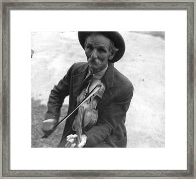 Fiddlin Bill Hensley Mountain Fiddler Asheville Nc Framed Print by Historic Photos