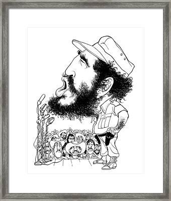 Fidel Castro (1926-2016) Framed Print