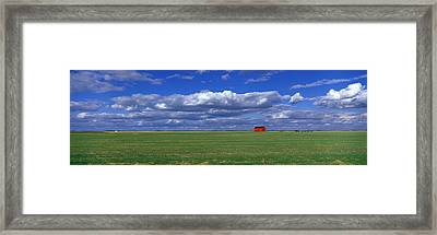 Field And Barn Saskatchewan Canada Framed Print by Panoramic Images