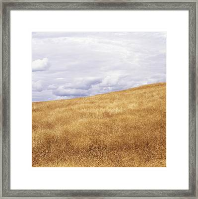 Field And Sky Near Rock Creek, South Framed Print by Bert Klassen