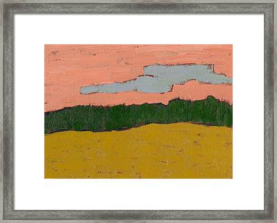 Field At Sunset Framed Print by David Dossett