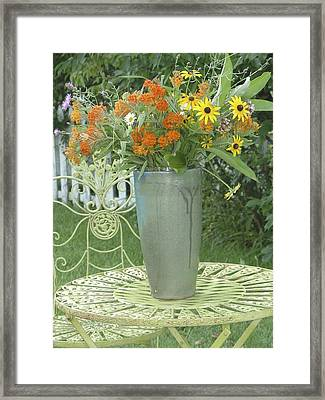 Field Flowers At The Mill Framed Print by Delona Seserman