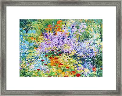 Field Flowers At Tzipori Framed Print