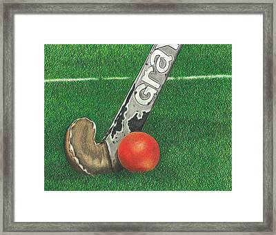 Field Hockey Framed Print by Troy Levesque