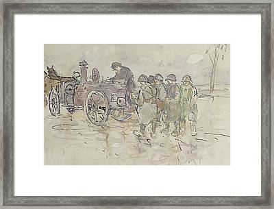 Field Kitchen On The Road To Belfort Framed Print by Louis Robert Antral