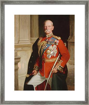Field Marshal Lord Roberts Of Kandahar Framed Print by Frank Markham Skipworth
