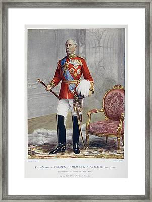 Field-marshal Viscount Wolseley Framed Print by British Library