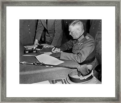 Field Marshal Wilhelm Keitel, Signing Framed Print