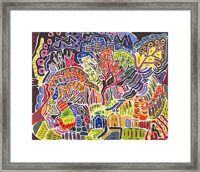 Field Framed Print by Matt Gaudian