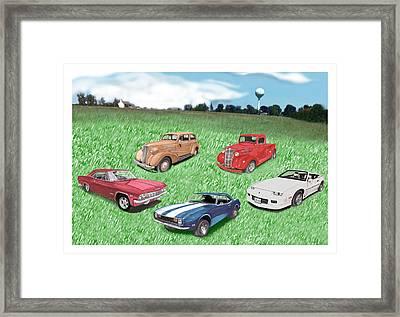 Field Of Chevys Framed Print by Jack Pumphrey