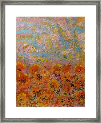 Field Of Color Framed Print by Rich Mason