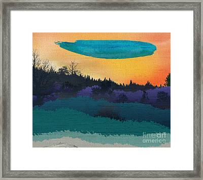 Field Of Colors And Shades Framed Print by Bedros Awak