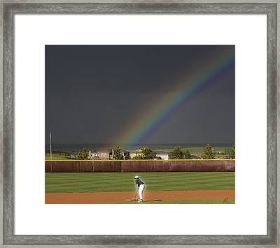 Field Of Dreams Framed Print by Chris Thomas