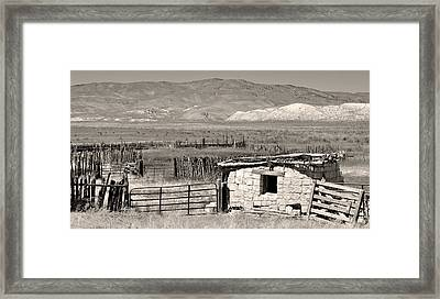Field Of Dreams Framed Print by Everett Bowers