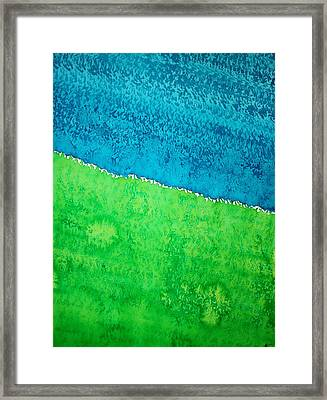 Field Of Dreams Original Painting Framed Print by Sol Luckman