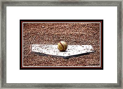 Field Of Dreams The Ball Framed Print by Susanne Van Hulst