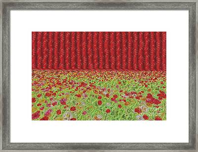 Field Of Flowers Abstract Framed Print