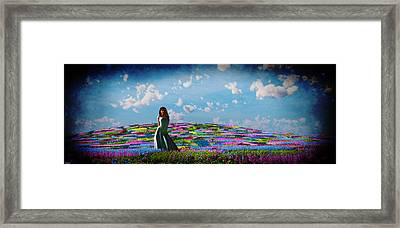 Field Of Flowers... Framed Print