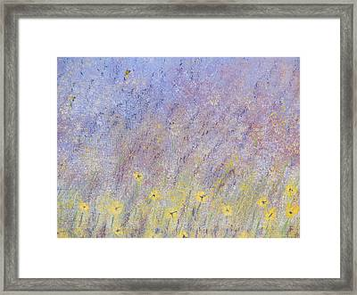 Field Of Flowers Framed Print by Tim Townsend
