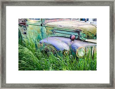 Field Of Rust Framed Print by Teri Virbickis