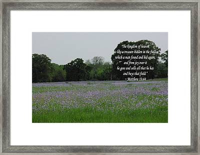 Field Of Treasure Framed Print by Robyn Stacey