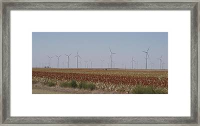 Framed Print featuring the photograph Field Of Wind by Fortunate Findings Shirley Dickerson
