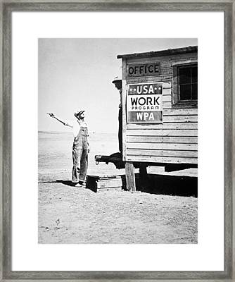 Field Office Of The Wpa Government Agency Framed Print by American Photographer