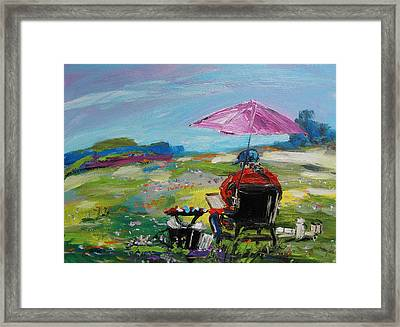 Framed Print featuring the painting Field Painter  by John Williams