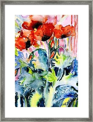 Field Poppies Framed Print by Trudi Doyle
