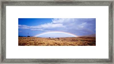 Field, Rainbow, Hawaii, Usa Framed Print