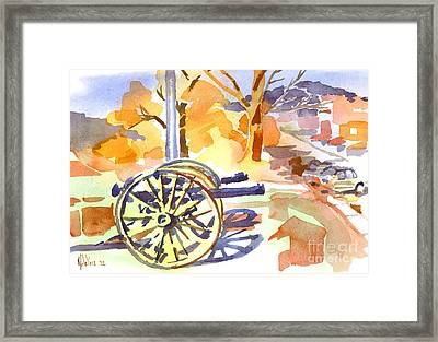 Field Rifles In Watercolor Framed Print by Kip DeVore