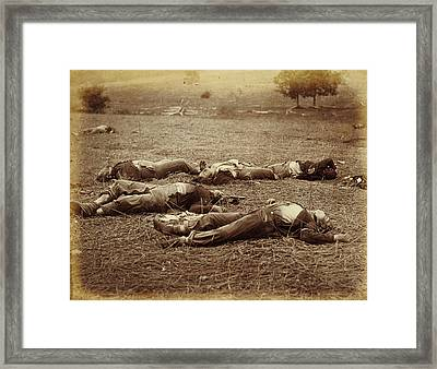 Field Where General Reynolds Fell, Gettysburg Timothy H Framed Print by Litz Collection