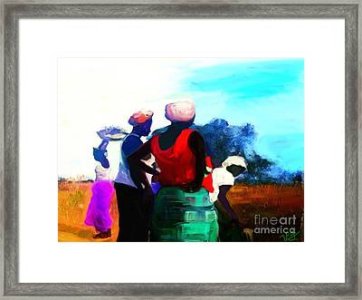 Framed Print featuring the painting Field Women by Vannetta Ferguson