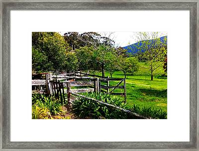 Fields And Fences Framed Print