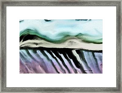 Fields And Landscape Framed Print